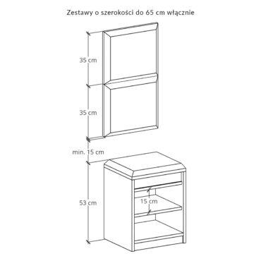 Zestaw szafka na buty SBD1 z panelami P02