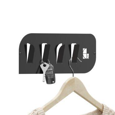 Wieszak stalowy na ubrania i klucze WS01