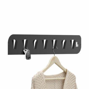 Wieszak stalowy na ubrania i klucze WS03
